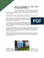 Diseñan Sistemas de Captación de Lluvia Para Solucionar La Falta de Agua Potable