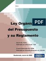 Ley Organica Del Presupuesto y Reglamento