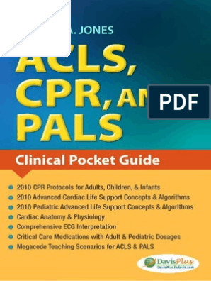Acls Cpr And Pals Jones Shirley Electrocardiography Cardiopulmonary Resuscitation Free 30 Day Trial Scribd