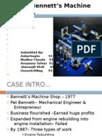 Case 10 Bennett's Machine Shop, Inc
