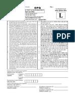 2014 JEE Main Paper -2 Code L