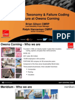Data Quality Taxonomy & Failure Coding