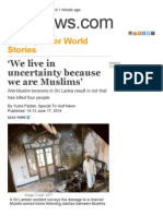 'We Live in Uncertainty Because We Are Muslims' _ GulfNews