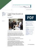 3 Habits of Super Successful Job Seekers - Yahoo Finance