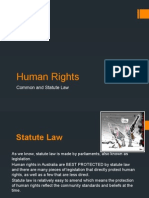 human rights in australia - common and statute law