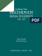 Beethoven - MissBEETHOVEN - MISSA SOLEMNIS