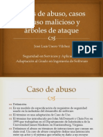 Casos de Abuso, Casos de Uso Malicioso,Arboles de Ataque