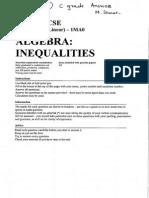 61 inequalities c grade answers