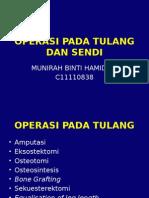 Operasi Pada Tulang Dan Sendi