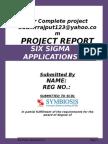 Six Sigma Applications