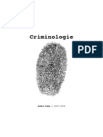 Criminologie Notes de Cours 2007 Camille Angelo Aglione