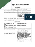 Structura 2014-2015 Sem 2