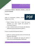 Licenziamento Collettivo Dimensione Aziendale e Calcolo Dei Lavoratori Impiegati