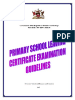 PSLCE Guidelines