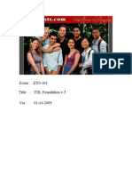 ITIL Foundation v3 EX0-101