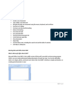 Microsoft Word 2007 Beginner's Training Manual