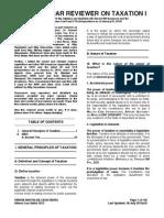 PM Reyes Bar Reviewer on Taxation I (v.3)
