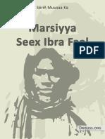 Marsiyya Seex Ibra Faal