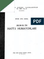 Enver Ziya Karal - Selim III'Ün Hattı Hümayunları