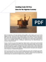 Dwindling Crude Oil Price on Nigerian Economy