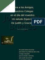 Poema de Borges para el día del Maestro