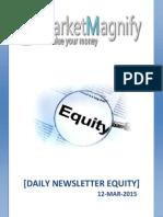 Equity Market Trading News Letter