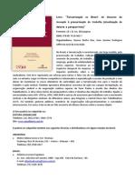 Livro Terceirizacao No Brasil Do Discurso Da Inovacao a Precarizacao Do Trabalho