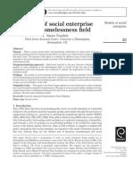 Models of Social Enterprise in the Homelessness Field
