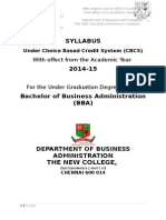 BBA II and III Year Updated Syllabus 2015