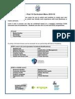 post 16 curriculum menu