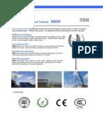 Data Sheet(500w VAWT)