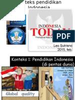 Konteks Pendidikan Indonesia Di Dasa Warsa Pertama Abad Ke-21