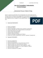 Programme de Formation Laboratoire Géotechnique