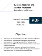 Mass Transfer Mass Transfer Coefficients Notes 10-11-2015
