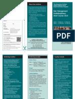 Workshop in Pain Management 2015 Flyer
