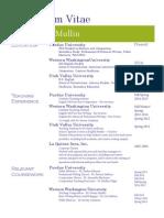McMullin CV March 2015
