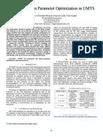 Cell Reselection Parameter Optimizationin Umts