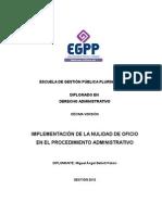 Monografía - La Nulidad de Oficio Carátula