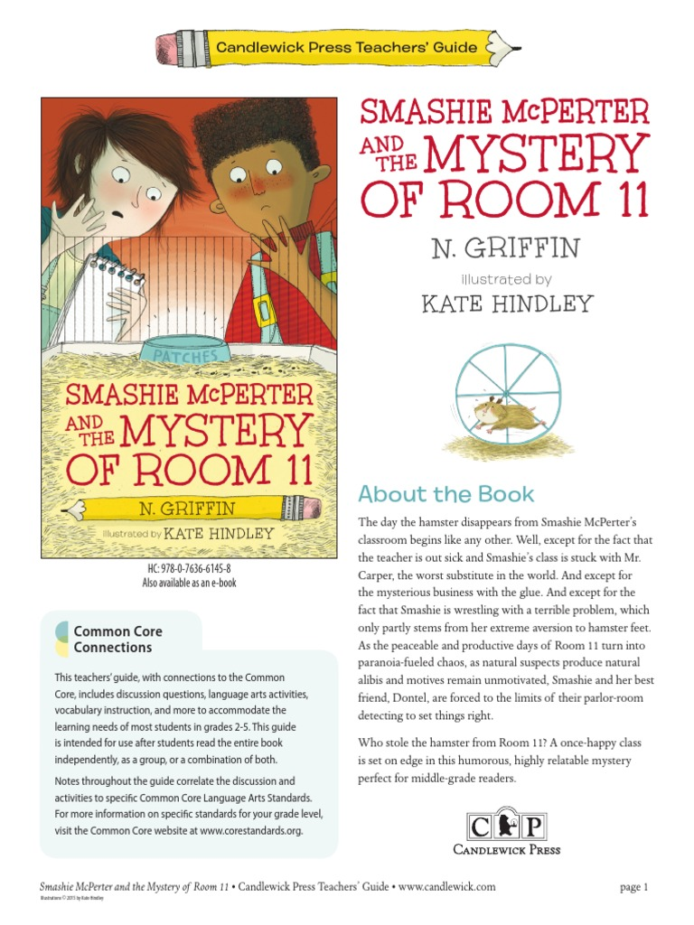 Smashie McPerter and the Mystery of Room 11 Teachers' Guide | Reading  Comprehension | Semantics
