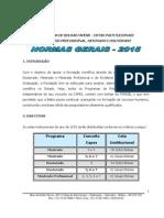 Normas Gerais FAPESB 2015