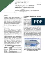 EN15085 European Quality Requirements