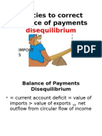 Policies to Correct Balance of Payments Disequilibrium