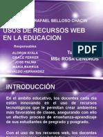 Usos de Recursos Web en El Aula