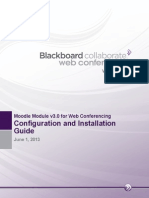 Moodle Integration for BB Collaborate Web Conferencing Configuration Guide V3