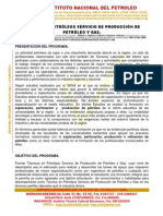 Perfil y Pensum Tecnico en Petróleos Servicios de Producción