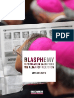 Blaspheme-Information sacrificed on altar of religion