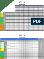 PB16 Tables