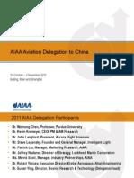 China Aviation Delegation Update