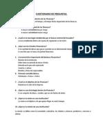 Cuestionario de Preguntas Finanzas