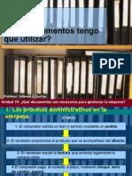 Tipos de documentos usados en una empresa